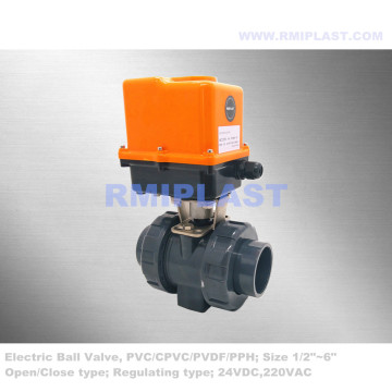 Plastic Electric Ball Valve PVC