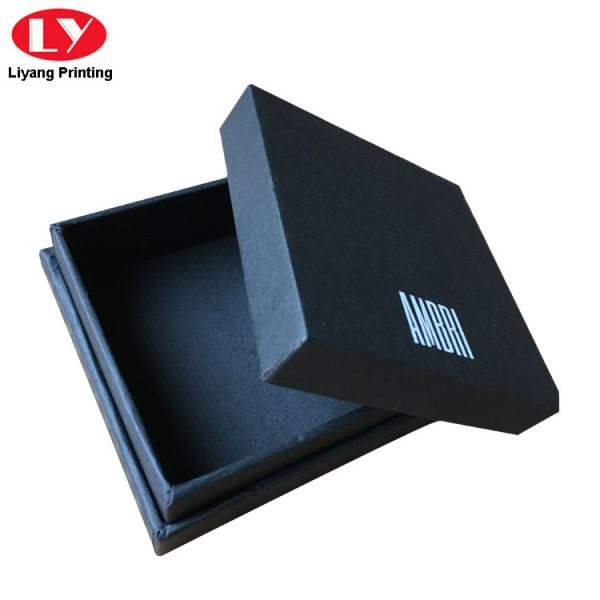Luxury Small Black Match Box with White Logo