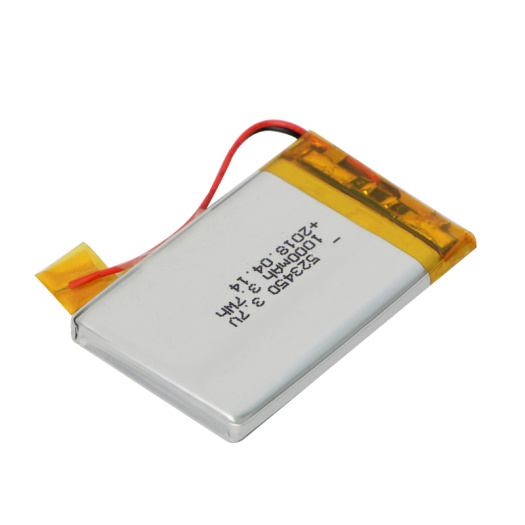 Low Self-discharge 523450 3.7V 1000mAh Lipo Battery