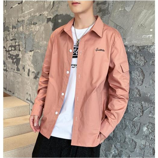 Latest Design Autumn Plain Long Sleeve Men Shirt