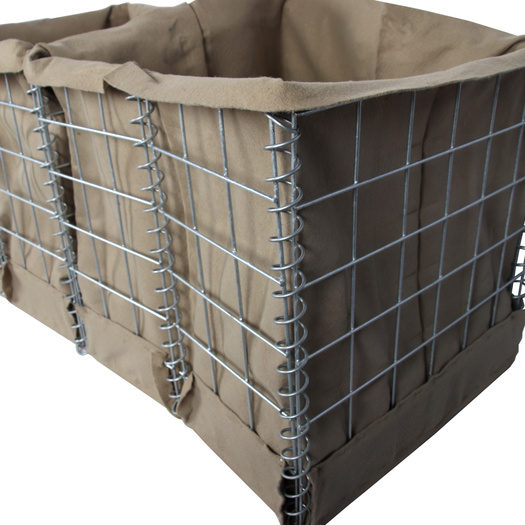 Hot dipped Galvanized gabion products hesco barrier