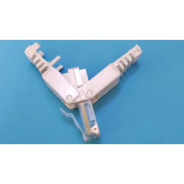 RJ45 UTP toolless plug Cat5e 8P8C connector