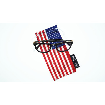 customize printed eyeglasses smartphone drawstring bag