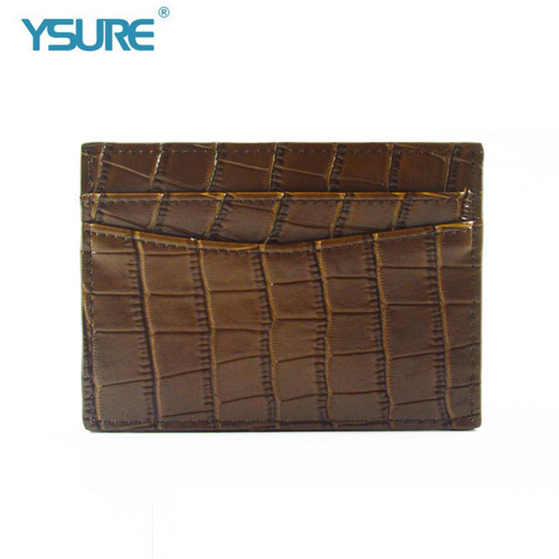 Custom Fashionable Leather Business Credit Card Holder