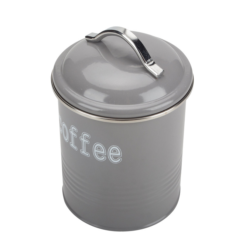 Grey Coffee Canister