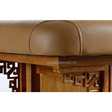 wooden frame  massage table for beauty salon