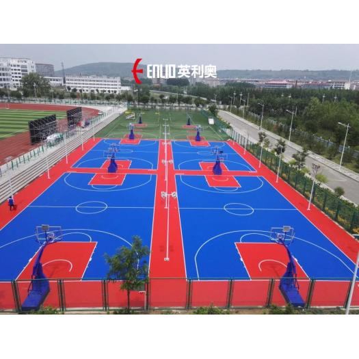 Modular PP Interlocking Tile Basketball Floor