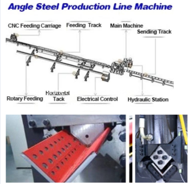 angle punching machine drawing