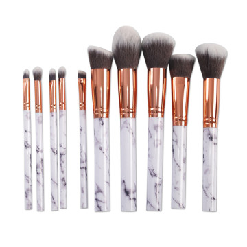 10pcs Marble Makeup Brushes Set
