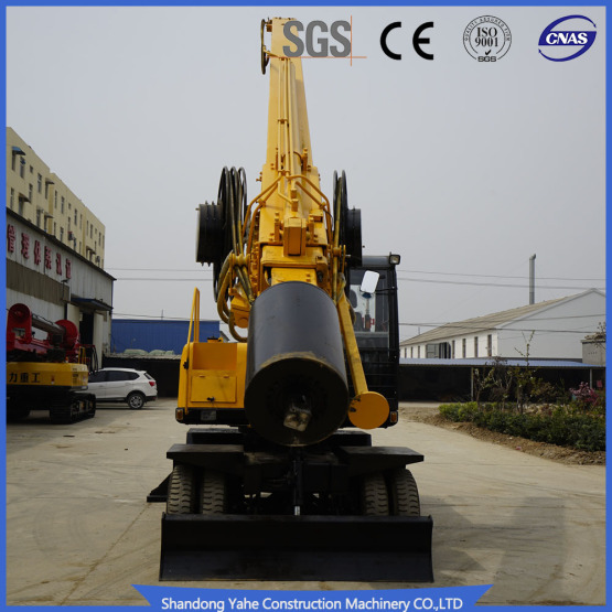 Square rod borehole drilling rig