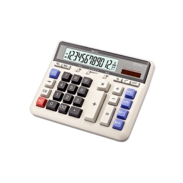 12 digits solar desktop calculator with battery