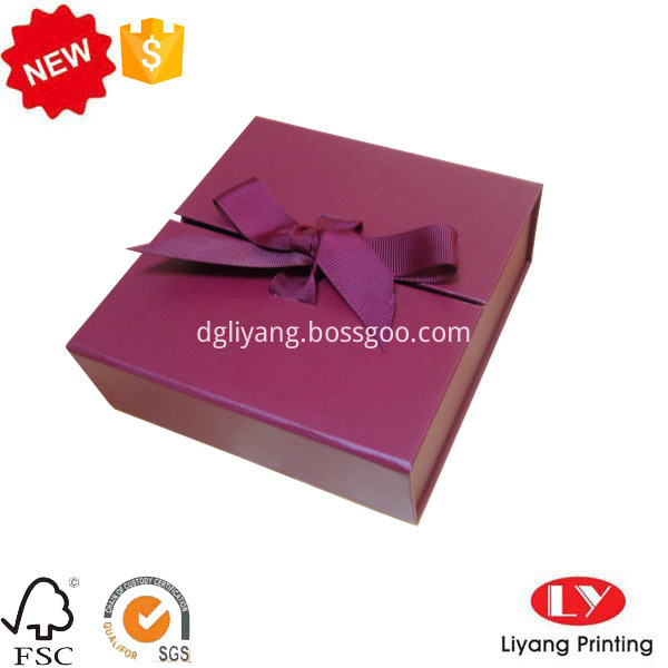 cardboard box with ribbon