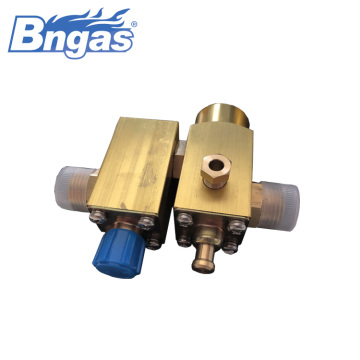 Big flowrate valve assembly commercial gas valve
