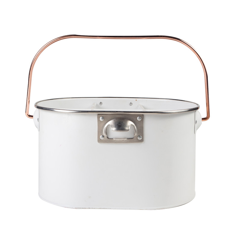 Tin oval utensil caddy