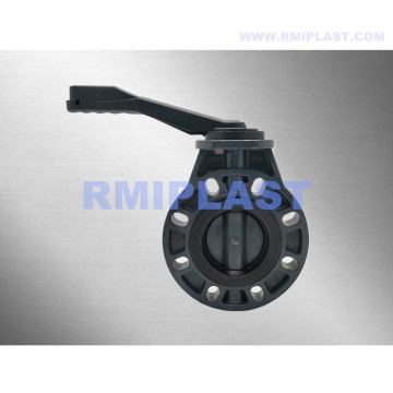 PVC-C Butterfly Valve For Chemical Industry Corrosive Liquid
