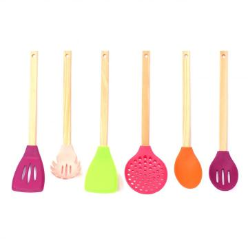6pcs Silicone Cooking Kitchen Utensils Set