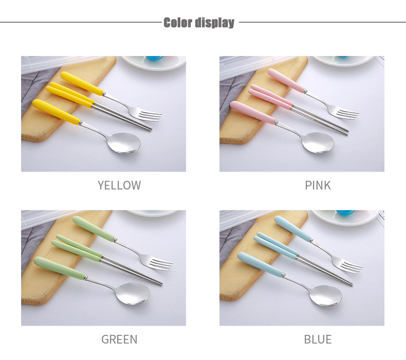 Travel Ceramic Cutlery Set