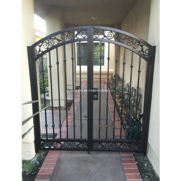 Modern Designs Wrought Iron Main Entry Gate for Backyard