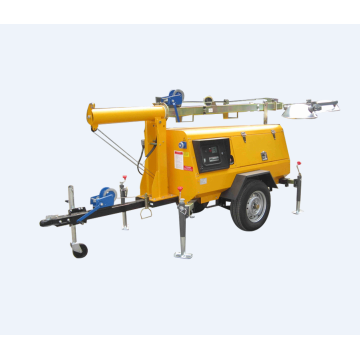 Mobile Light Stand for Construction Outside Lighting