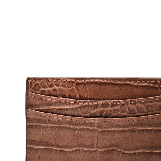 Genuine Crocodile Leather Business Id Card Holder