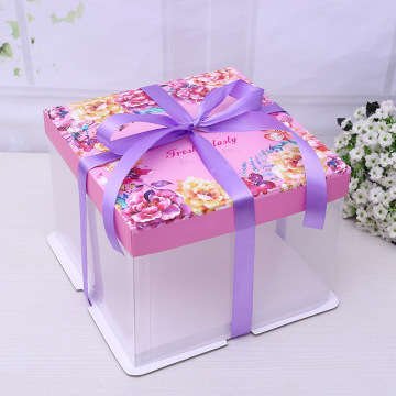 Plastic birthday cake box