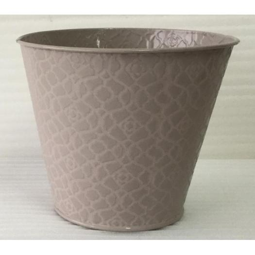 Wide mouth tin flower bucket