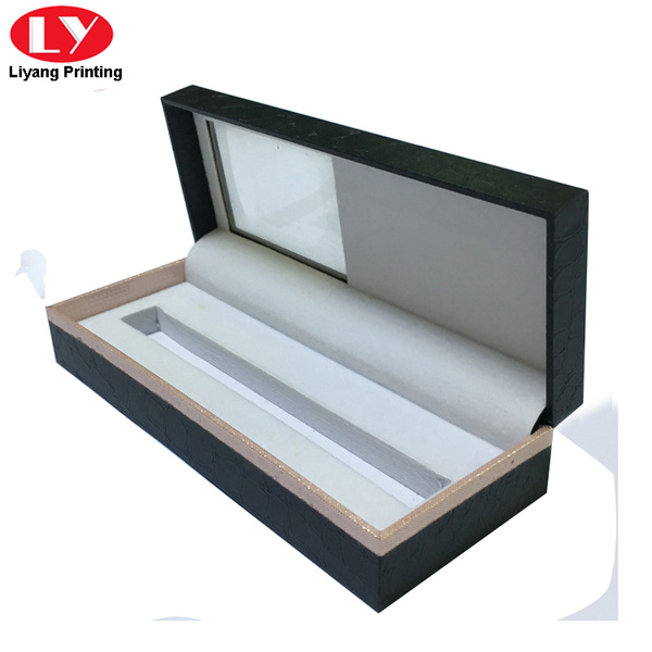 Custom pen box printing with clear window