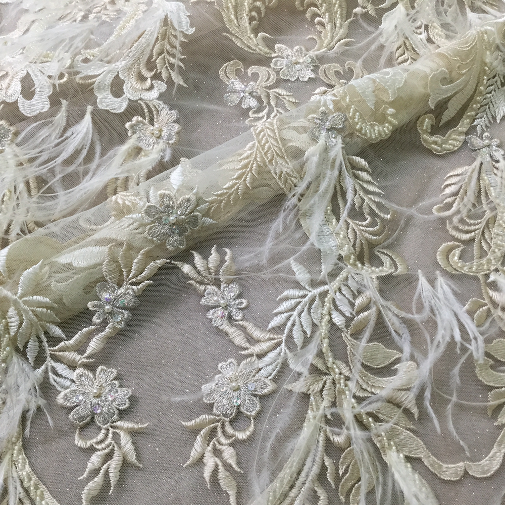 Feather Fabric Material