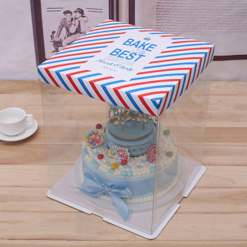 Plastic packaging box design for cake