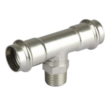 Male Tee Stainless Steel 304 Press Pipe Fitting