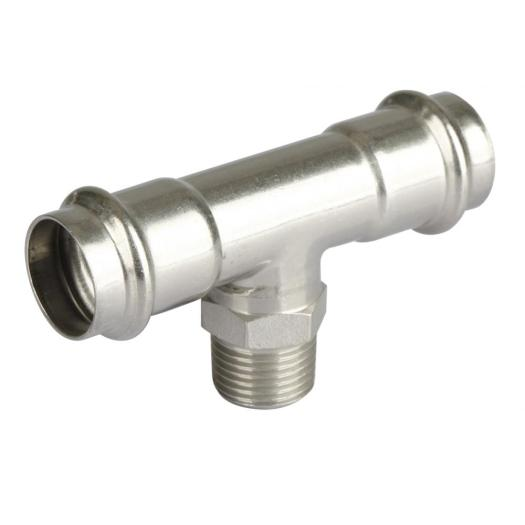 Male Thread Stainless Steel Pipe Press Fitting Tee