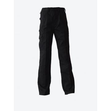 Black Work Trousers Light Weight Cotton Fabric