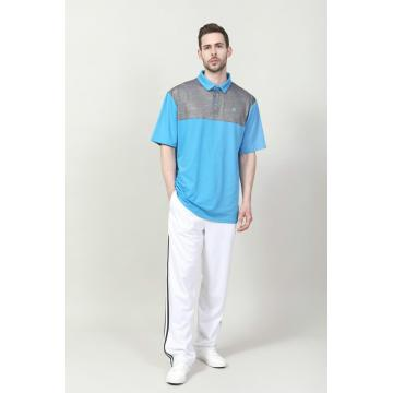 MEN'S CONTRAST CUT SEW POLO SHIRT