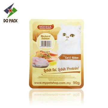 High temperature retort pouch pet food packaging
