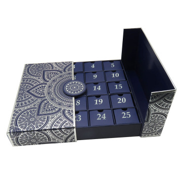 Custom Beauty Advent Calendar Box  Foil  Gift Boxes