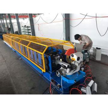 Welded pipe downspout roll forming machine