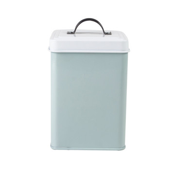 Light Blue Tea Sugar Coffee Canister