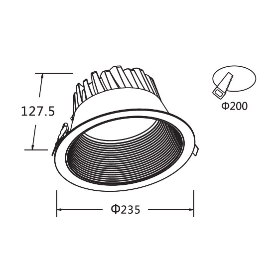 Surface Mounted Closet Light Fixtures 40W