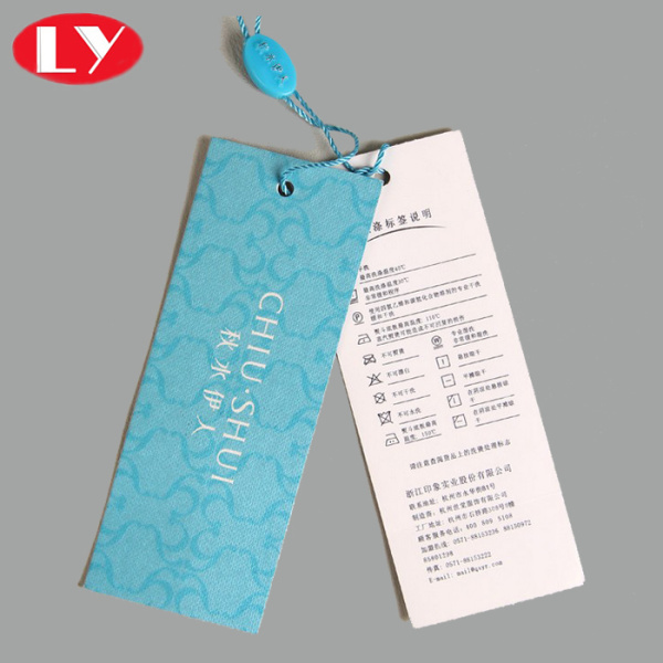 Customized product paper hangtag with custom logo