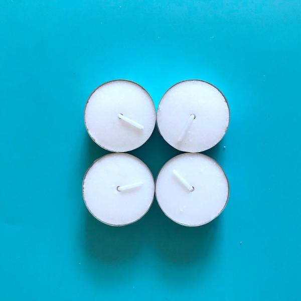 Popular White Unscented Tealight Candles for Isreal Market