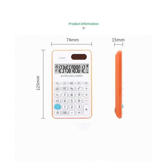 120 steps handheld calculators with two-way power
