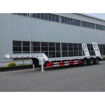Low Bed Semi Truck Trailer 3 Axles 80T