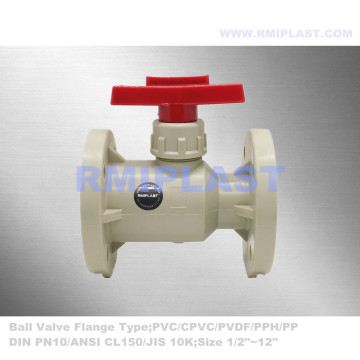 PPH Flanged Ball Valve ANSI 1/2