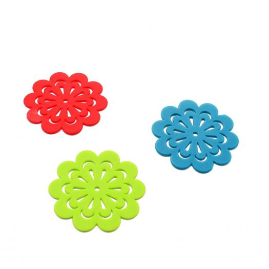 Colorful silicone cup mat For All Beverages