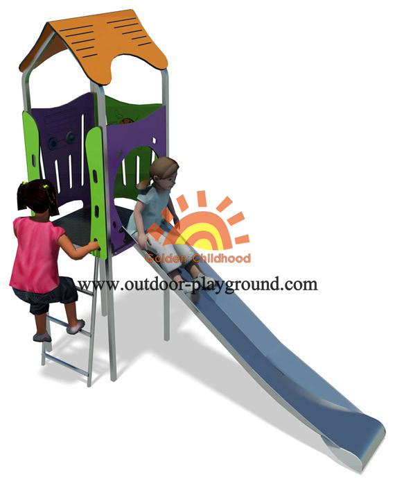outdoor play structures slide for small yards