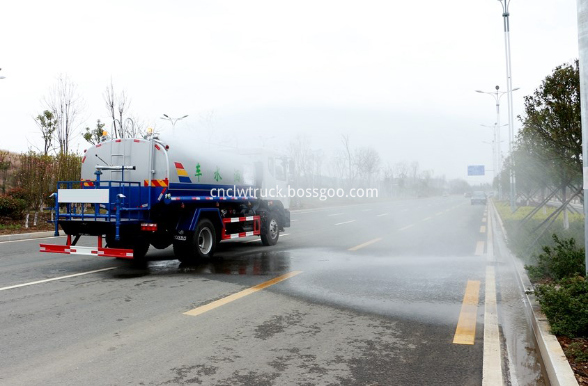 water carrying truck in action 5