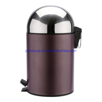 High Quality Half Round Lid Stainless Steel Pedal Waste Bin, Dustbin