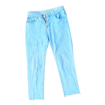 Used Denim Cropped Trousers
