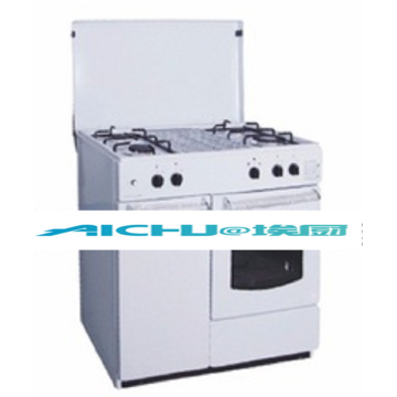 White Painting Free Standing Gas Oven
