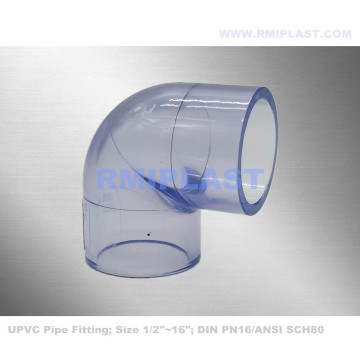 SCH80 Clear PVC Elbow